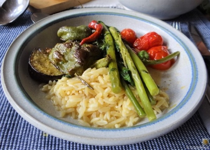 Knoblauchgrün,Gemüse,Kritharaki (21)