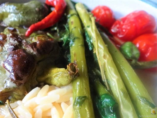 Knoblauchgrün,Gemüse,Kritharaki (3)