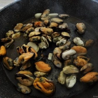 Linguine,geschmorte Tomaten,Miesmuscheln (8)