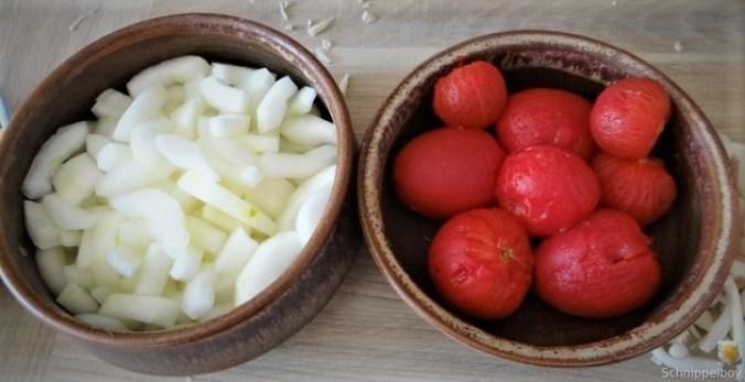 Schmorgurke, Tomatenragout, Meeresfrüchte (15)