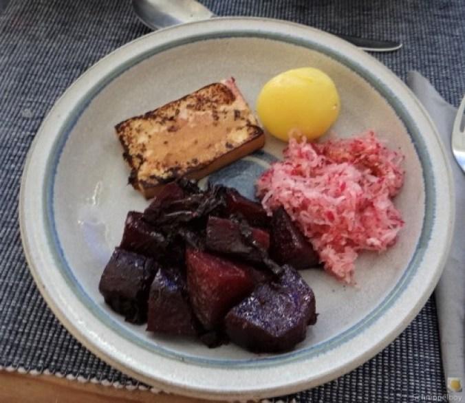 Seidentofu,Rote Bete,Rettichsalat (1)