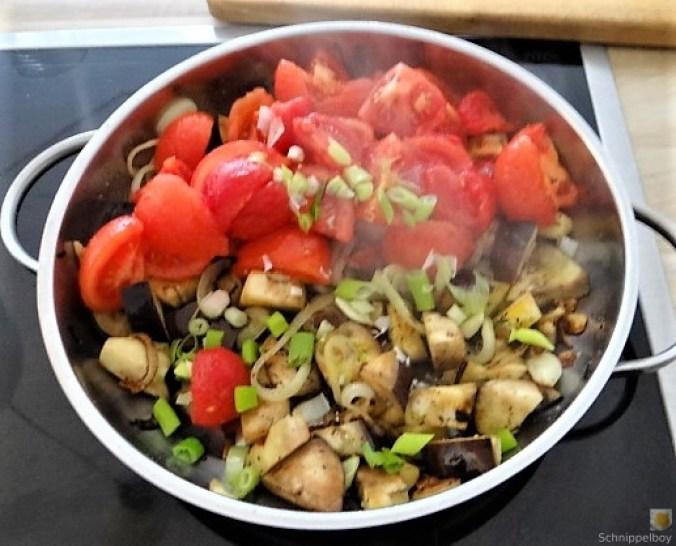 Auberginen-Tomaten Gemüse, Foccacia (22)