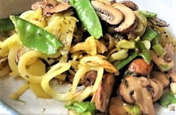 Champignon,Kaiserschoten,Kartoffel Zoodles (3)