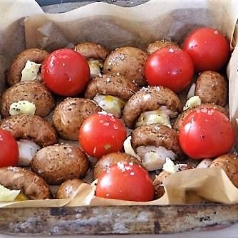 Campignon und Tomaten, Kritharaki (9)