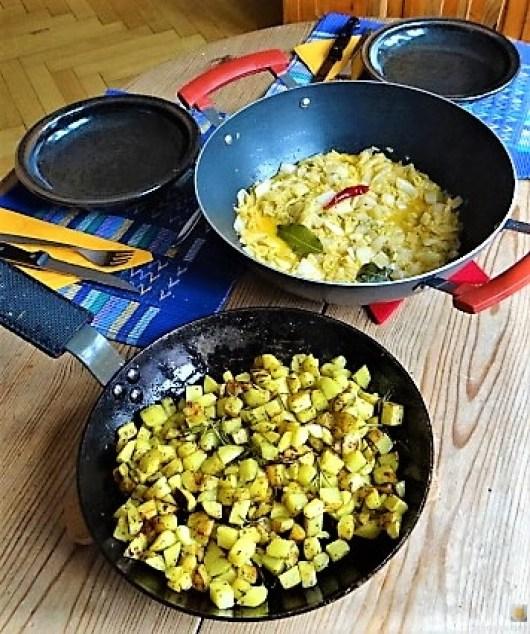 Chinakohl und roh gebratene Kartoffeln (26)