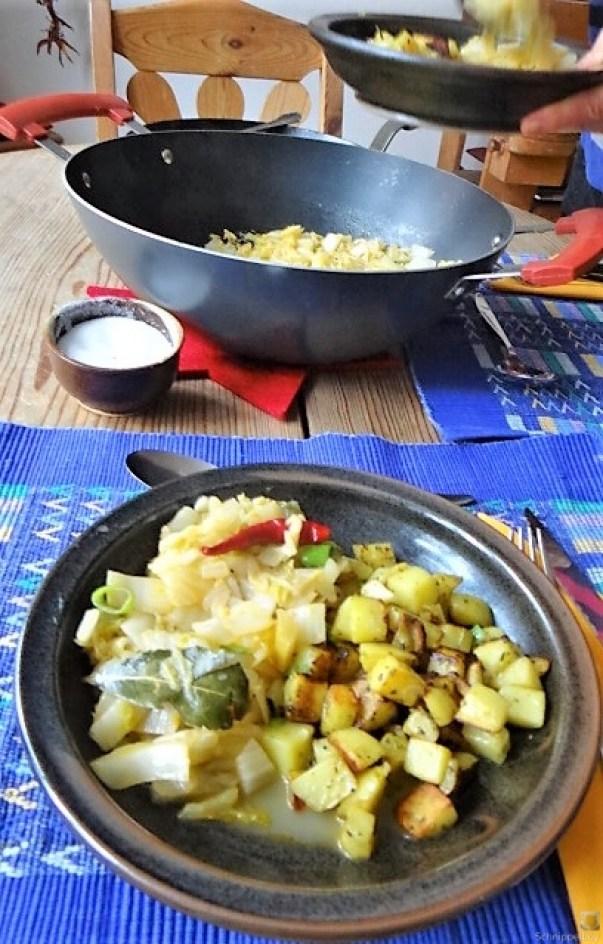 Chinakohl und roh gebratene Kartoffeln (41)