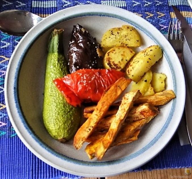 Gremolata, Ofengemüse,Pommes (2)