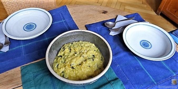 Risotto mit Safran, Salzzitrone und Spinat (24)