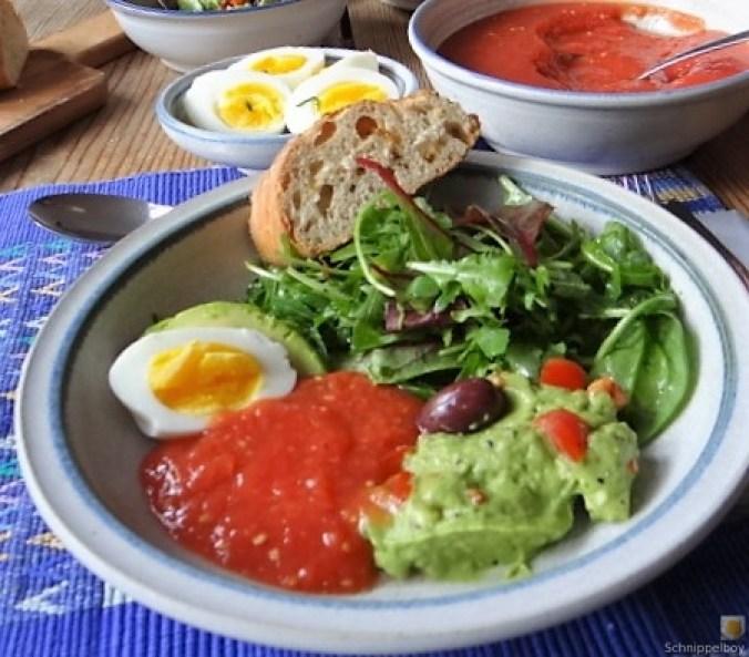 Tomatensalsa,Guacamole,Salat und Ei (16)