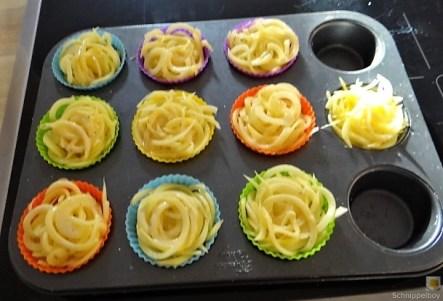 Kartoffelküchlein, Lachs, Meerrettichdip (16)