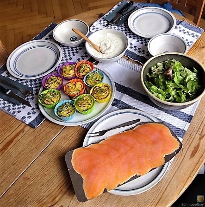Kartoffelküchlein, Lachs, Meerrettichdip (22)