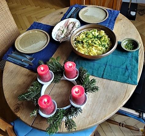 Kartoffelsalat mit frisch geräucherter Forelle (14)