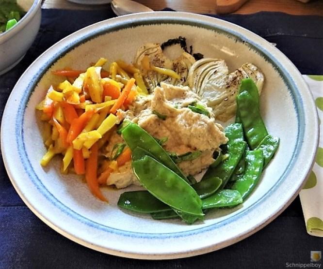 Selleriepürree und Gemüse (2)