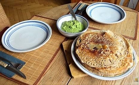 Buchweizenpfannkuchen,Ruccolapesto,Quittenkompott (29)