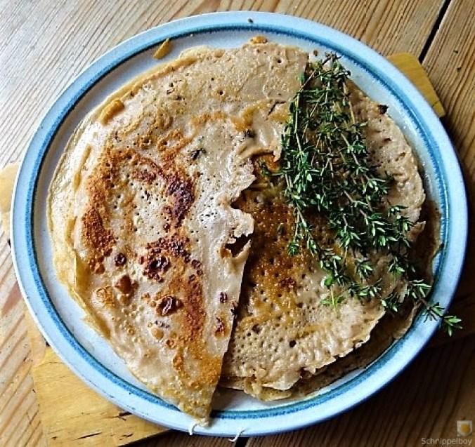 Buchweizenpfannkuchen,Ruccolapesto,Quittenkompott (5)