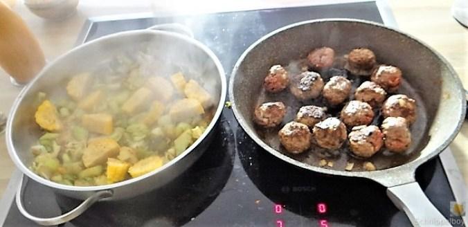 Gemüse und Hackbällchen orientalisch (17)