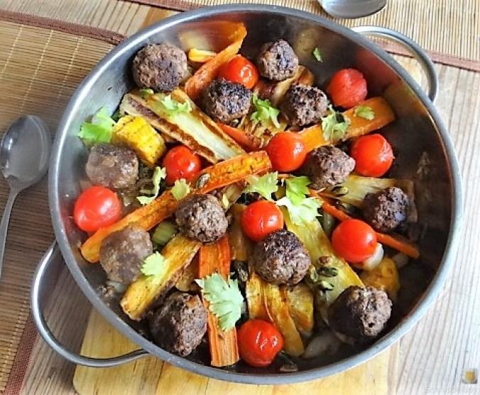 Gemüse und Hackbällchen orientalisch (4)