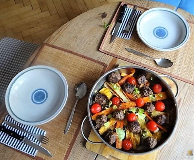 Gemüse und Hackbällchen orientalisch (5)