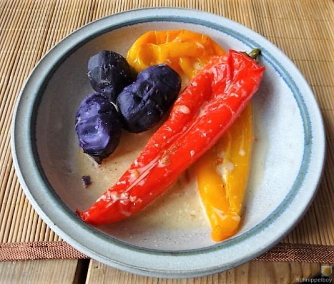 Spitzpaprtka in Wein, blaue Kartoffel (1)