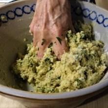 Falafel, Fetacreme, Gurkensalat, (19)