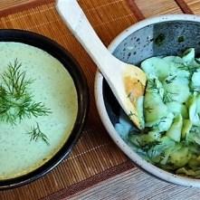 Falafel, Fetacreme, Gurkensalat, (22)