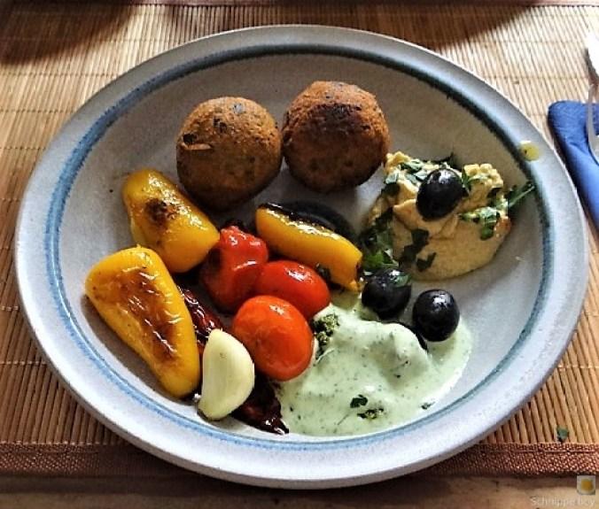 Falafel, Hummus, Gemüse, (1)