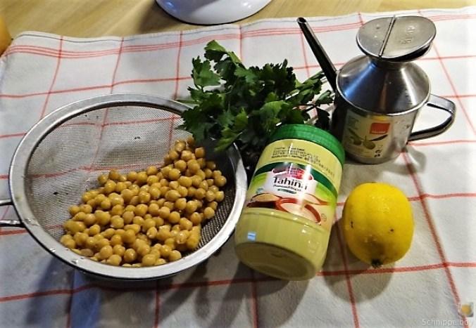 Falafel, Hummus, Gemüse, (9)