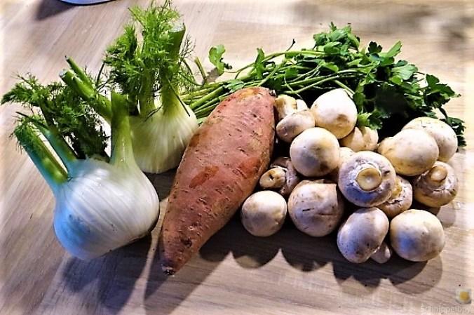 Fenchel,Süßkartoffeln und Champignon (14)