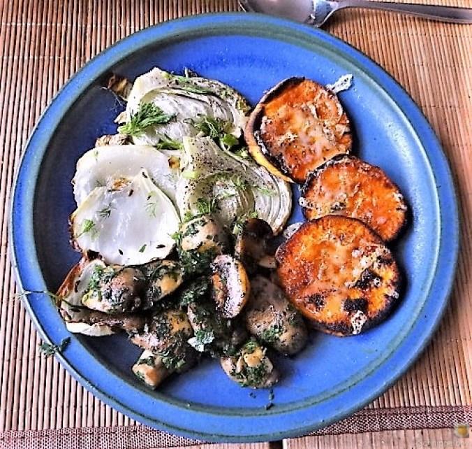 Fenchel,Süßkartoffeln und Champignon (3)