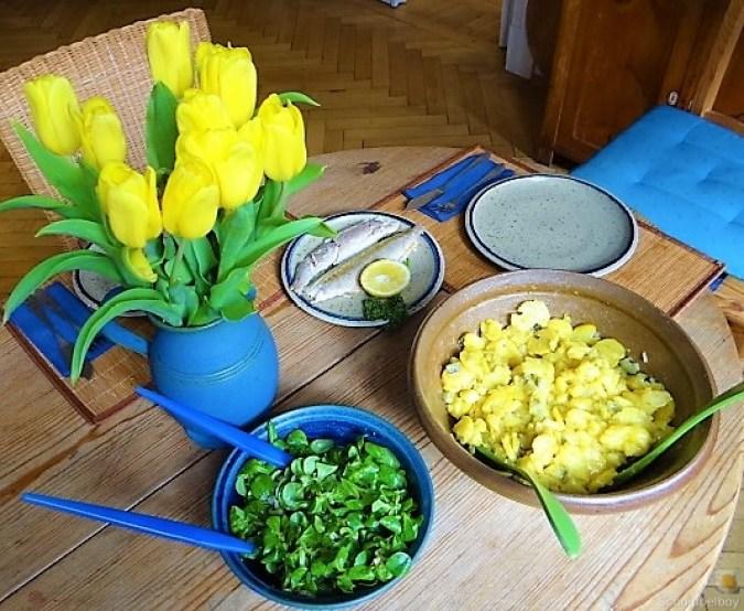 Kartoffelsalat, Makrele, Feldsalat (20)