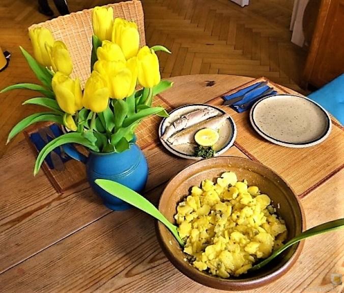 Kartoffelsalat, Makrele, Feldsalat (6)