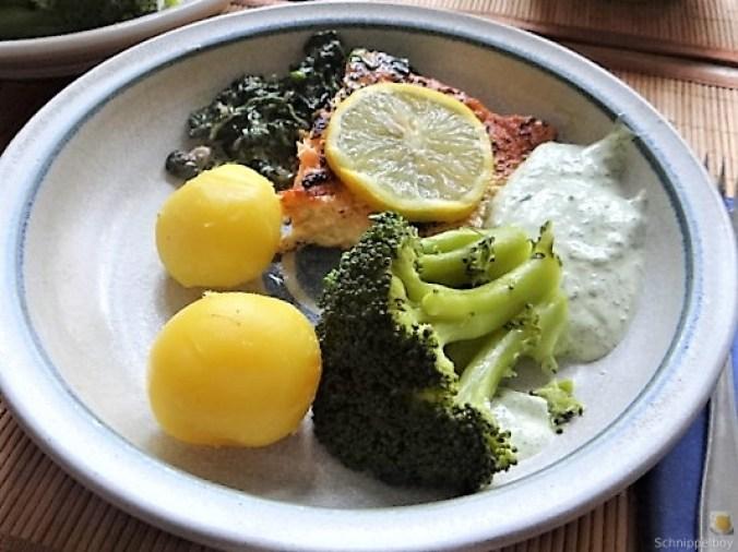 Lachs,Dip und Gemüse (20)