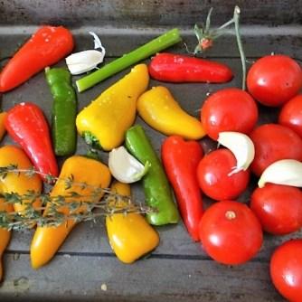 Nudeln mit Paprika und Tomaten (9)