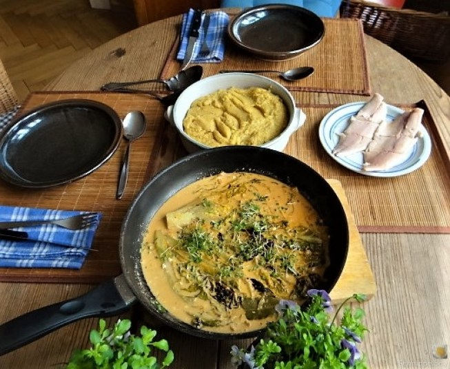 Gebratener Salat mit Polenta (4)