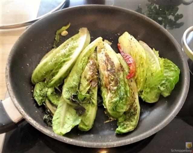Gebratener Salat mit Polenta (9)