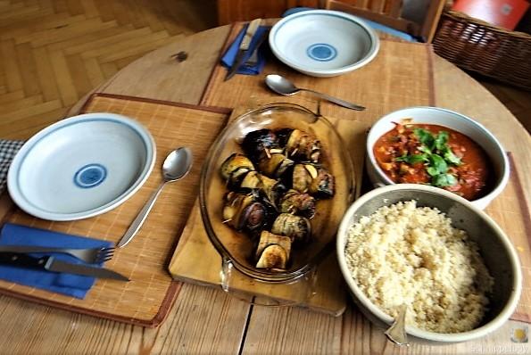Zucchini-Auberginen Röllchen mit Couscous (7)