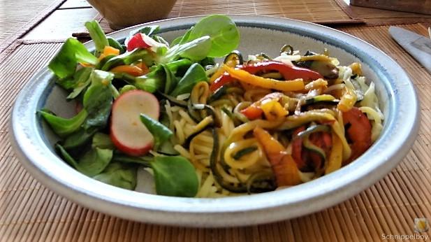 Zucchini Zoodles, Spaghetti, Felfsalat (23)