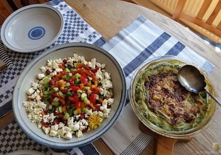 KartoffelBrennessel Gratin, Gemischter Salat (23)