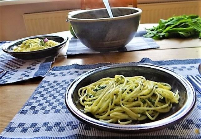 Spaghetti mit Gorgonzola-Brennesselsauce (17)