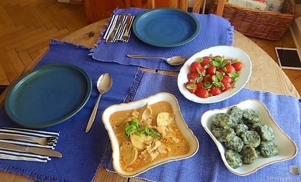 Wildkräuter Gnocchis, Poulardenbrust, Geschmorte Tomaten (9)
