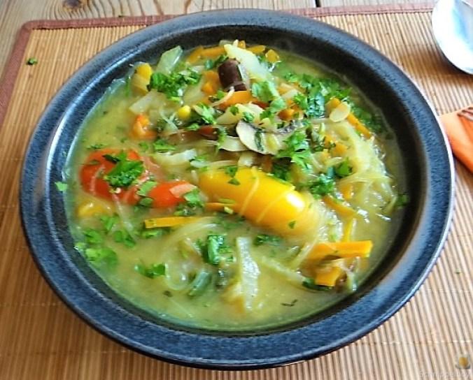 Gemüsesuppe mit Glasnudeln (25)