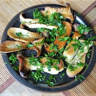 Kleine Klöse, Kleine Fleischbällchen,Pilze, Sauce (15)