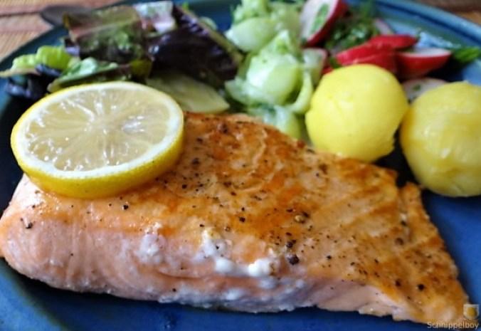 Lachs und Salate (1)