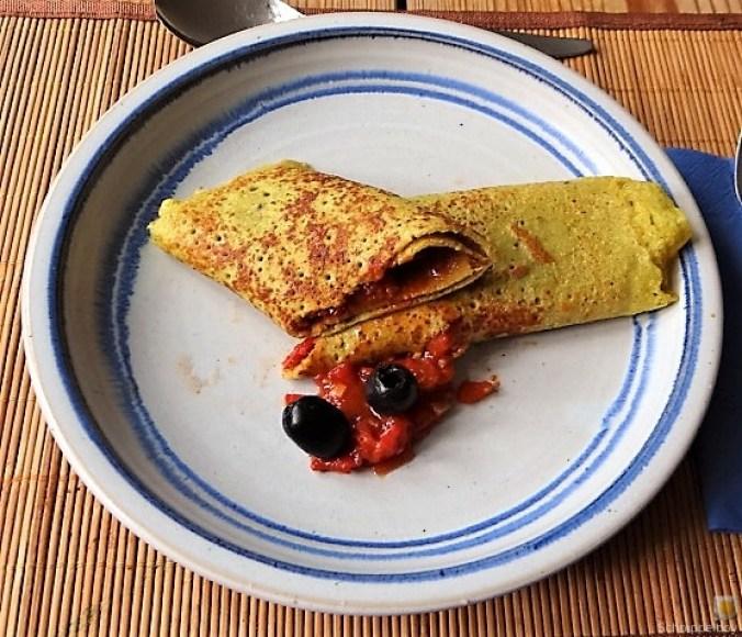 Buchweizen Pfannkuchen und Tomaten Ragout (24)