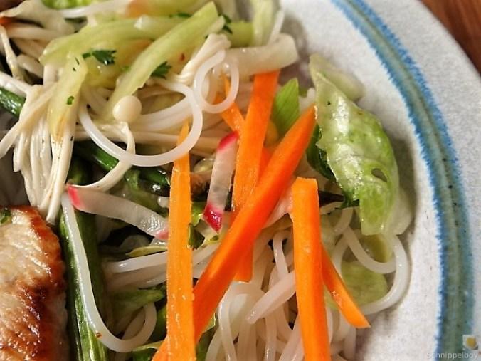 Glasnudeln, Gemüse und Putenfleisch (3)