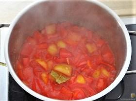 Kartoffelstampf mit Feta, Paprikasauce, Gurkensalat und ein Blattsalat (9)