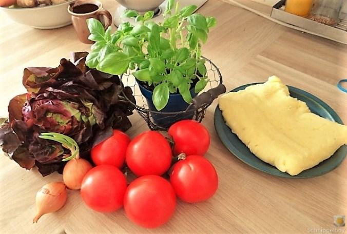 Kloßscheiben und Salate (10)