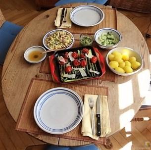 Rührei mit Krabben, Grüner Spargel und Tomaten (23)