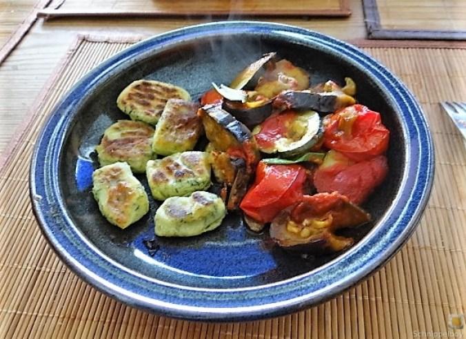 Ratatouille in der Pfanne und Spinat Gnocchis (2)