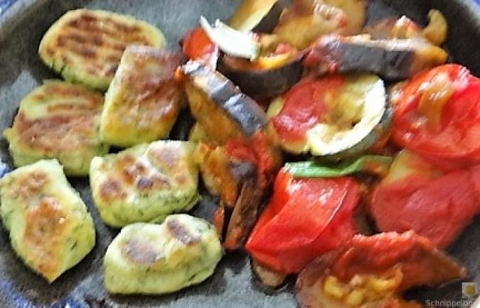 Ratatouille in der Pfanne und Spinat Gnocchis (3)